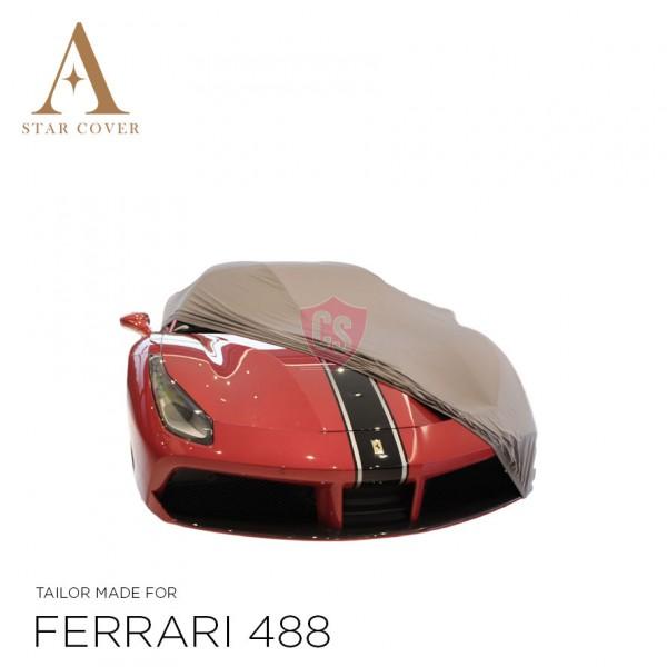 Ferrari 488 Indoor Car Cover - Tailored - Silvergrey