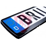 License plate holder in gloss black (1 piece)