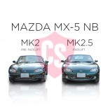 Mazda MX-5 NB Mesh Grill - BLACK EDITION (1 piece) 2002-2005 Facelift Model