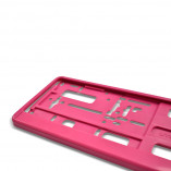 License plate holder in Pink (1 piece)