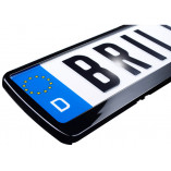 License plate holder in high gloss black (1 piece)