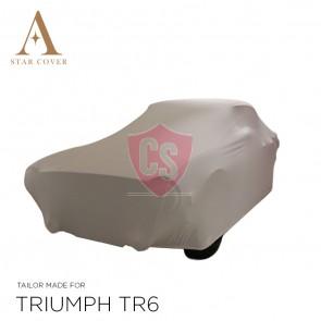 Triumph TR4 TR6 Indoor Car Cover - White